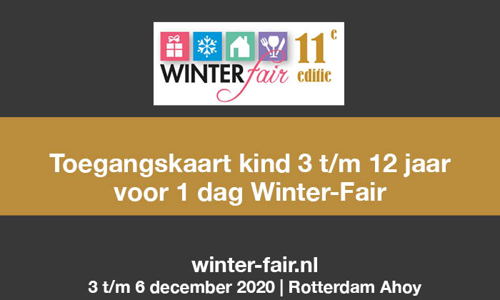 Winter-Fair toegangskaart kind 2020